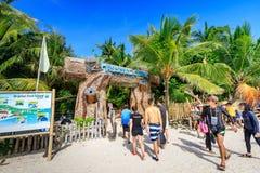 Hoofdvoorzijde van Crystal Cove in Boracay-Eiland royalty-vrije stock afbeeldingen