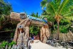Hoofdvoorzijde van Crystal Cove in Boracay-Eiland stock fotografie