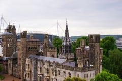Hoofdwaaier van het Kasteel Cardiff van Cardiff van Wales stock foto