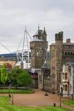 Hoofdwaaier van het Kasteel Cardiff Wales van Cardiff stock fotografie