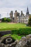 Hoofdwaaier van het Kasteel van Cardiff in Cardiff van Wales royalty-vrije stock foto's