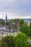 Hoofdwaaier van het Kasteel van Cardiff in Cardiff in Wales royalty-vrije stock afbeelding