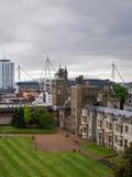 Hoofdwaaier van het Kasteel van Cardiff in Cardiff Wales royalty-vrije stock afbeeldingen