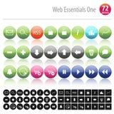 Hoofdzaak Één 72 van het Web royalty-vrije illustratie