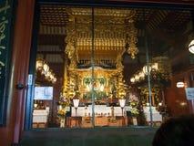 Hoofdzaal bij de Tempel è  ‰ 寺, Tokyo, Japan van Sensoji æµ… Pagode royalty-vrije stock fotografie