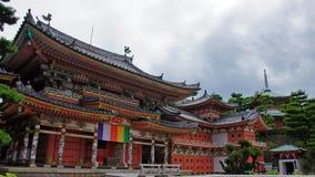 Hoofdzaal van Kosanji Temple in Japan stock foto's