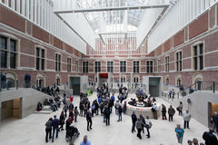 Hoofdzaal van Rijksmuseum in Amsterdam Stock Afbeeldingen