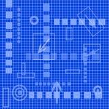 Hoog - blauwe technologiematrijs, vector illustratie