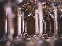 Hoog champagneglas of van de koppenclose-up schot stock afbeelding