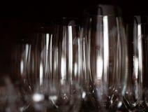 Hoog champagneglas of van de koppenclose-up schot royalty-vrije stock foto's