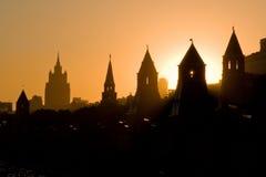 Hoog contrast het Kremlin Stock Foto's
