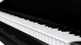 Hoog 3d de pianotoetsenbord van onderzoek Stock Afbeelding