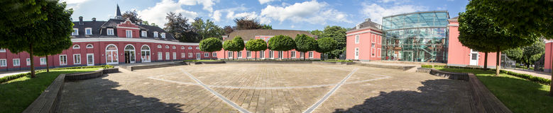 Hoog de definitiepanorama van kasteeloberhausen Duitsland Royalty-vrije Stock Afbeelding
