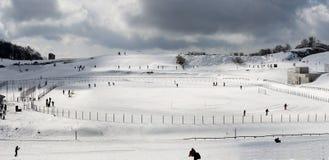 Hoog de hemelgebied van het berg dwarsland Royalty-vrije Stock Fotografie