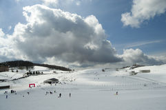 Hoog de hemelgebied van het berg dwarsland Royalty-vrije Stock Foto
