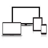 Hoog - de illustratieinzameling van kwaliteits elektronische apparaten Royalty-vrije Stock Afbeelding