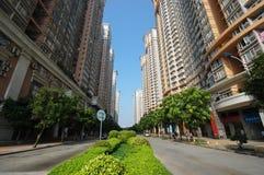 Hoog - dichtheids residental flats Stock Afbeeldingen
