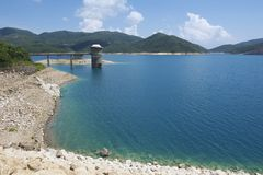 Hoog Eilandreservoir in Hong Kong Global Geopark in Hong Kong, China Royalty-vrije Stock Afbeelding