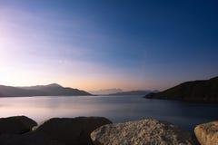 Hoog Eilandreservoir, Sai Kung, Hong Kong royalty-vrije stock foto