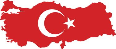 Hoog gedetailleerde vectorkaart Turkije stock illustratie