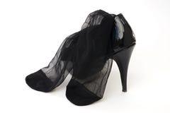 Hoog gehielde schoen met manufacturenhandel Stock Afbeeldingen