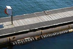Hoog gezichtspunt van lege houten pier Royalty-vrije Stock Foto's