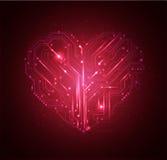 Hoog hart - technologieachtergrond   Stock Fotografie