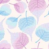 Hoog het blad vector naadloos patroon van het detailskelet stock illustratie