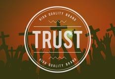 Hoog - het ontwerp van het het vertrouwensembleem van het kwaliteitsmerk stock fotografie