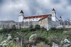 Hoog Kasteel van Bratislava Royalty-vrije Stock Afbeelding
