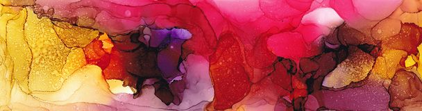 Hoog - kwaliteit Alcoholinkt het moderne abstracte schilderen, eigentijds detailsart. stock illustratie