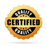 Hoog - kwaliteit verklaard product vectorpictogram stock illustratie