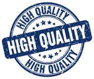 Hoog - kwaliteits blauwe grunge om uitstekende zegel Stock Foto's