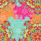 Hoog - kwaliteits naadloos gekleurd patroon Stock Afbeeldingen