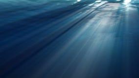 Hoog - kwaliteits oceaangolven van realistische onderwater Lichte stralen die door glanzen Grafische computer stock illustratie