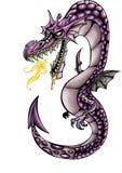Hoog - kwaliteitsillustratie van draakmascotte, dekking, achtergrond, behang vector illustratie