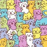 Hoog - kwaliteitsillustratie van patroon van de katten het grappige kat royalty-vrije stock foto