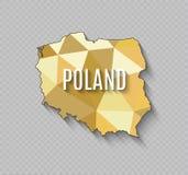 Hoog - kwaliteitskaart van Polen met grenzen van de gebieden stock illustratie