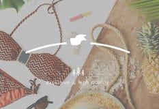 Hoog - kwaliteitswaarde met een waarde van Beste Luxe Exclusief Concept stock afbeelding