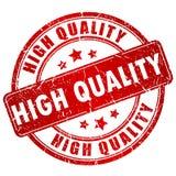 Hoog - kwaliteitszegel royalty-vrije illustratie