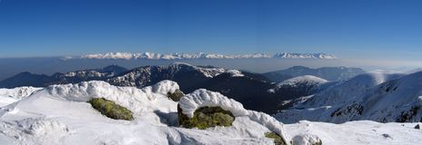 Hoog panorama Tatras Royalty-vrije Stock Fotografie