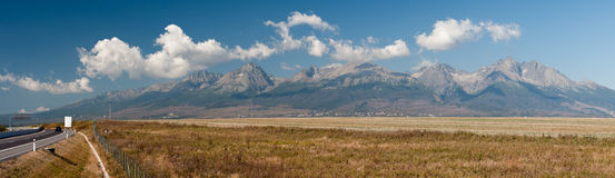 Hoog panorama Tatras Stock Fotografie