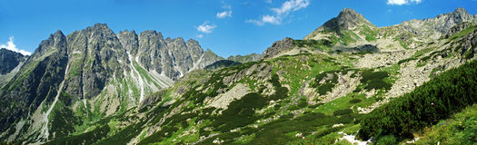 Hoog Panoramisch Beeld Tatras Stock Foto's