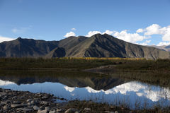 Hoog plateaulandschap in Tibet royalty-vrije stock afbeeldingen