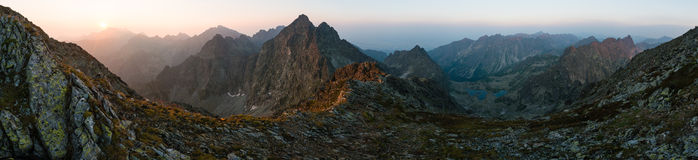 Hoog Tatras-panorama, Slowakije Stock Foto