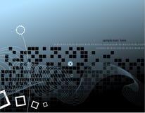 Hoog - technologie achtergrondontwerp Stock Foto's
