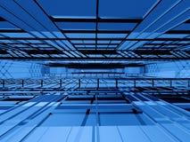 Hoog - technologie binnenlandse ruimte stock illustratie