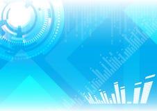 Hoog - technologie blauwe achtergrond Stock Afbeelding