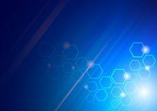 Hoog - technologie blauwe achtergrond Royalty-vrije Stock Afbeeldingen