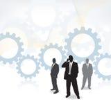 Hoog - technologie Commercieel team royalty-vrije illustratie